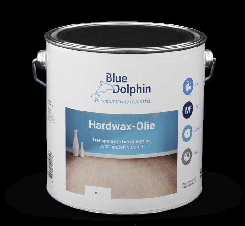 Hardwax-olie Wit dient als grondlaag op eiken en andere kleurbare houtsoorten